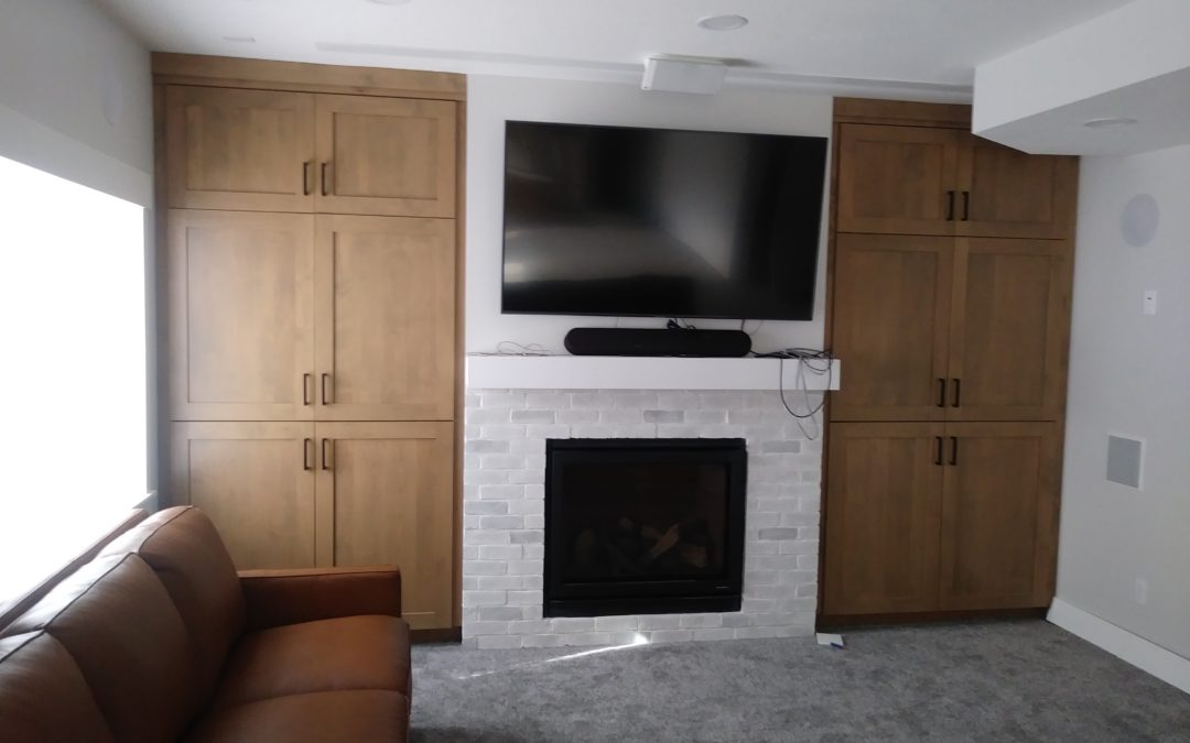 Building Cabinets Around Fireplaces